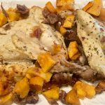 Roasted Chicken with Sweet Potatoes and Dates