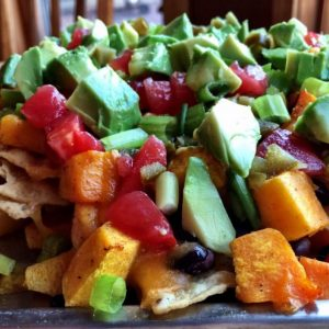 Squachos (Butternut Squash and Black Bean Nachos)