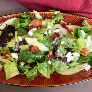 Fall Salad with Caramelized Apple Vinaigrette